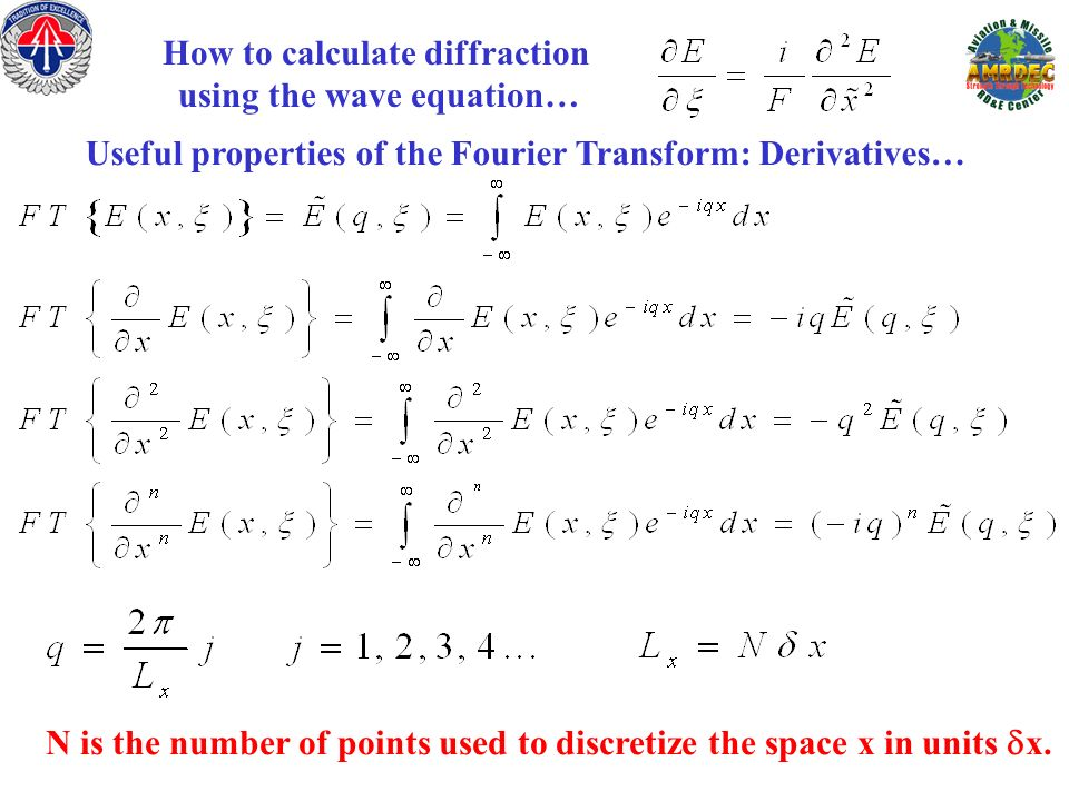 How to calculate diffraction using the wave equation…