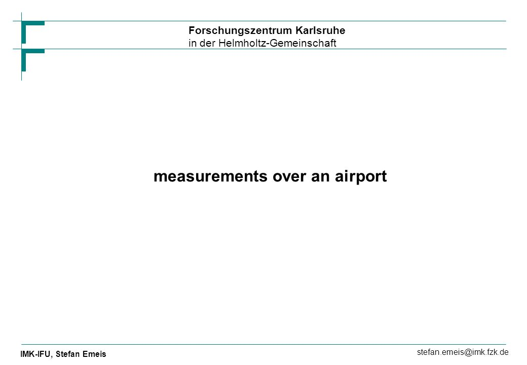 measurements over an airport