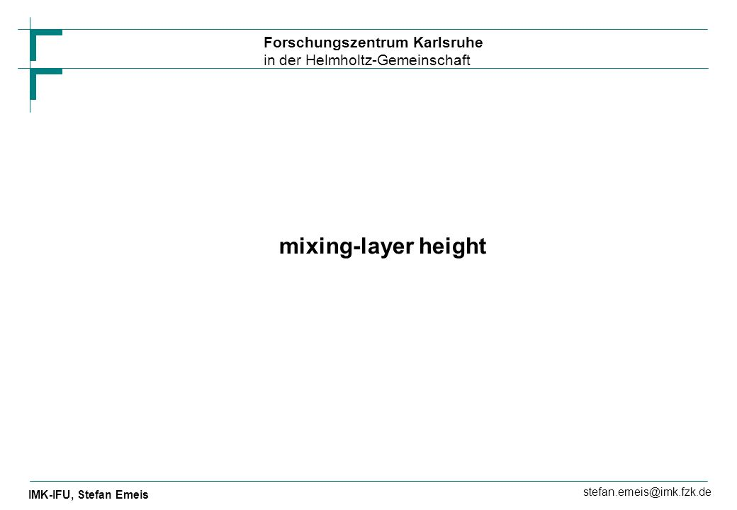 mixing-layer height