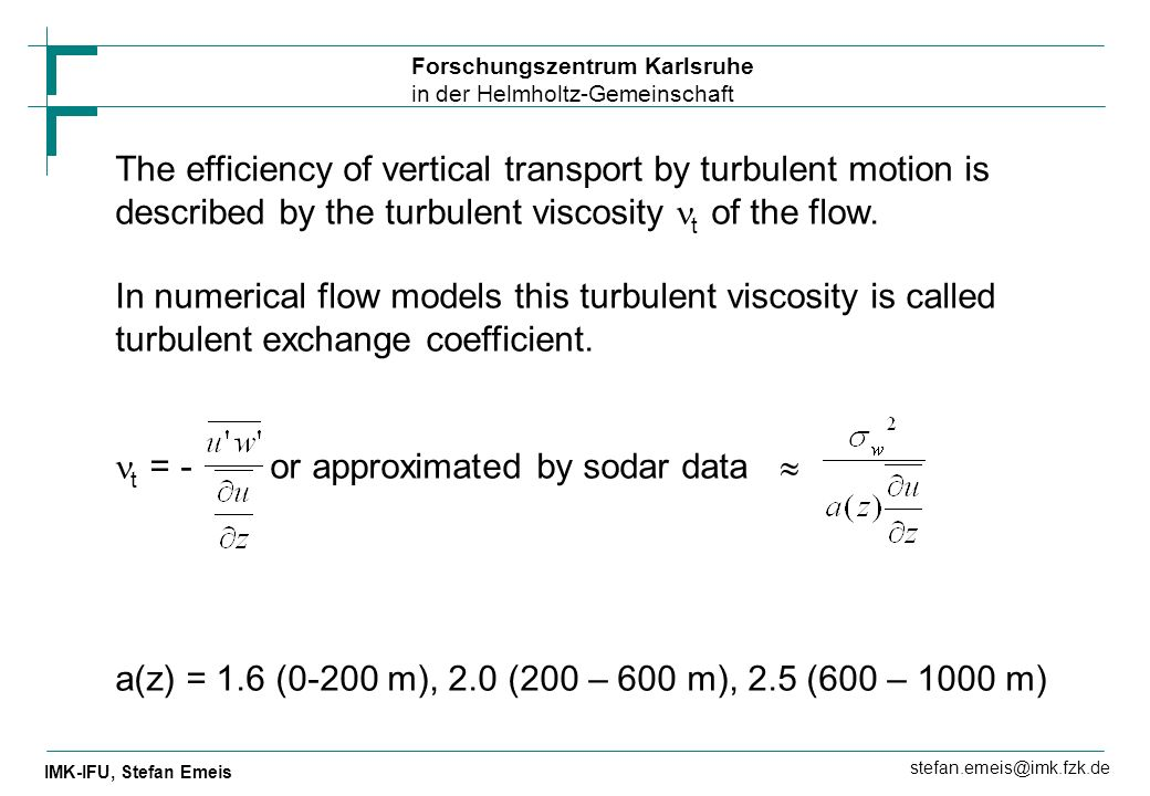 The efficiency of vertical transport by turbulent motion is