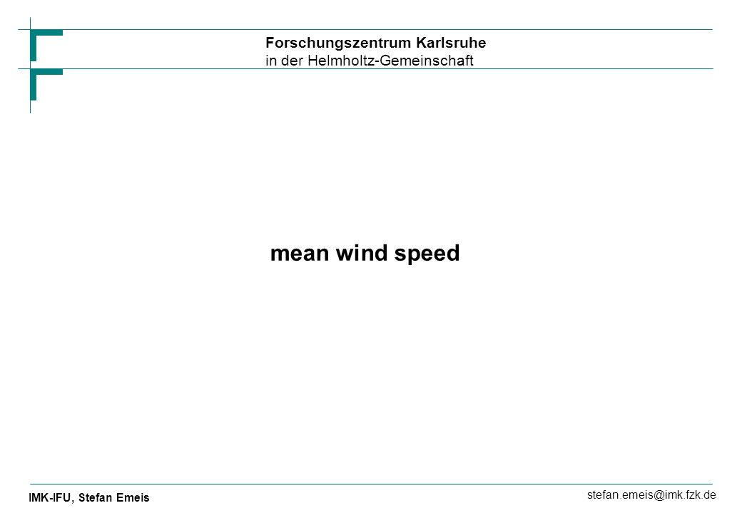 mean wind speed