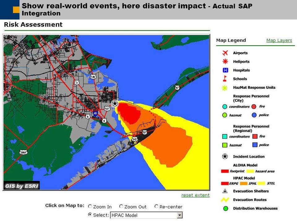 Show real-world events, here disaster impact - Actual SAP Integration