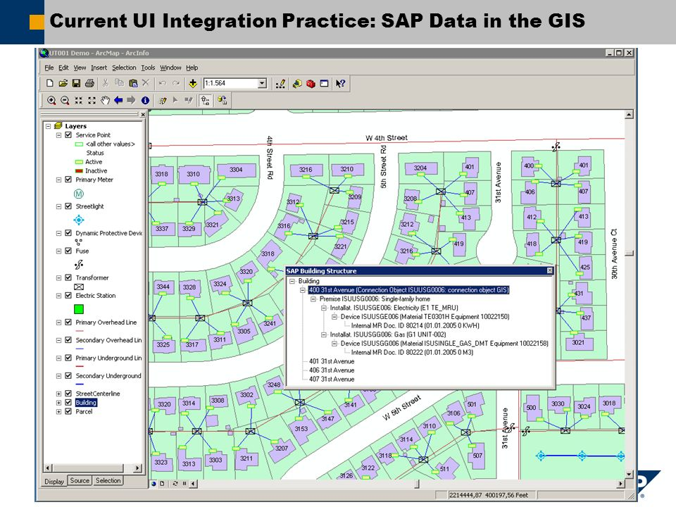 Current UI Integration Practice: SAP Data in the GIS