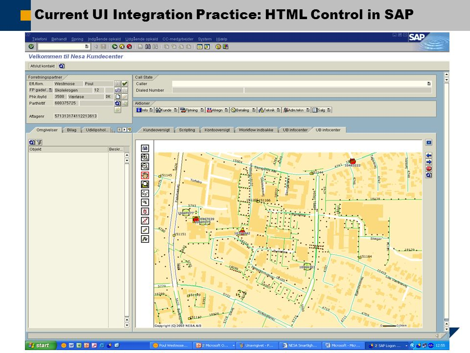 Current UI Integration Practice: HTML Control in SAP