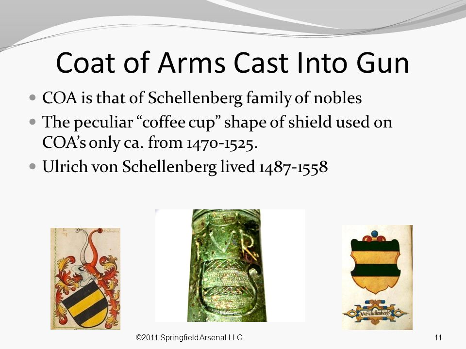 Coat of Arms Cast Into Gun