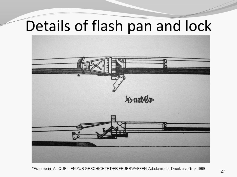 Details of flash pan and lock
