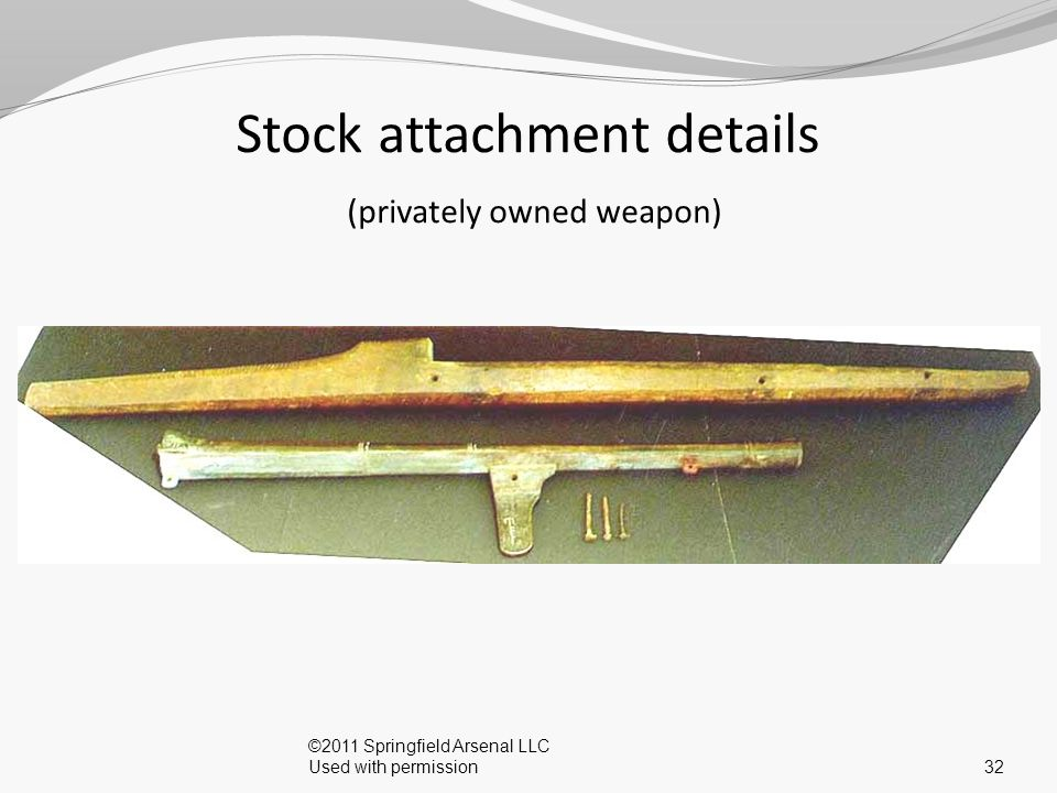 Stock attachment details (privately owned weapon)
