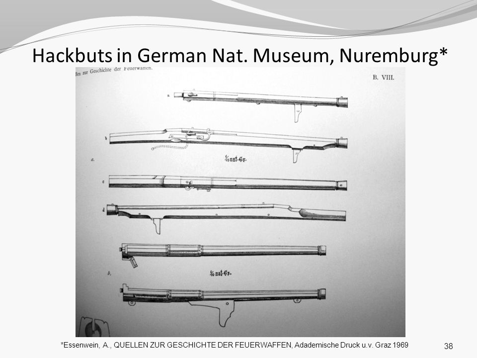 Hackbuts in German Nat. Museum, Nuremburg*