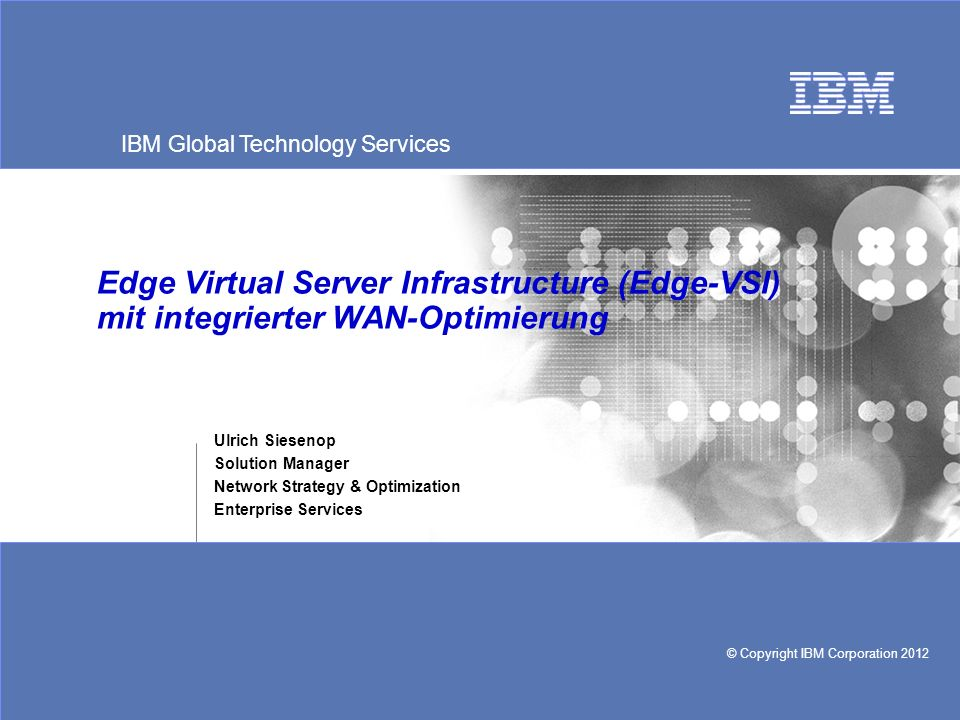 Edge Virtual Server Infrastructure (Edge-VSI) mit integrierter WAN-Optimierung