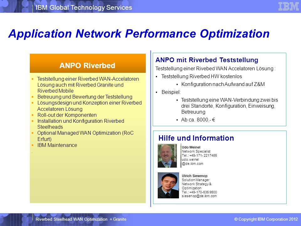 Application Network Performance Optimization