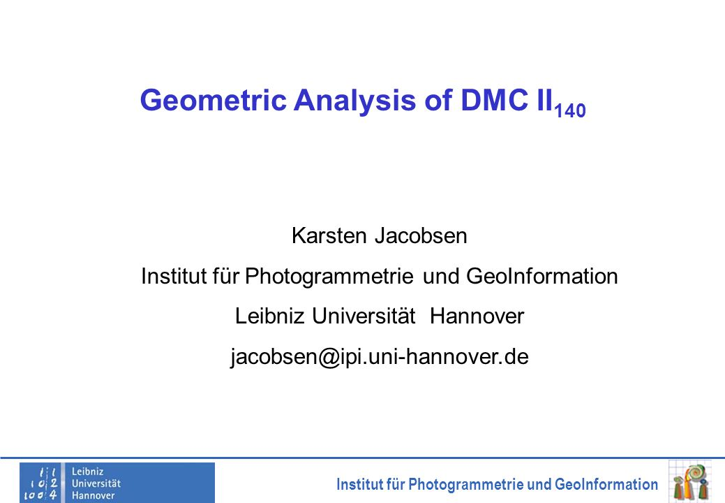 Geometric Analysis of DMC II140
