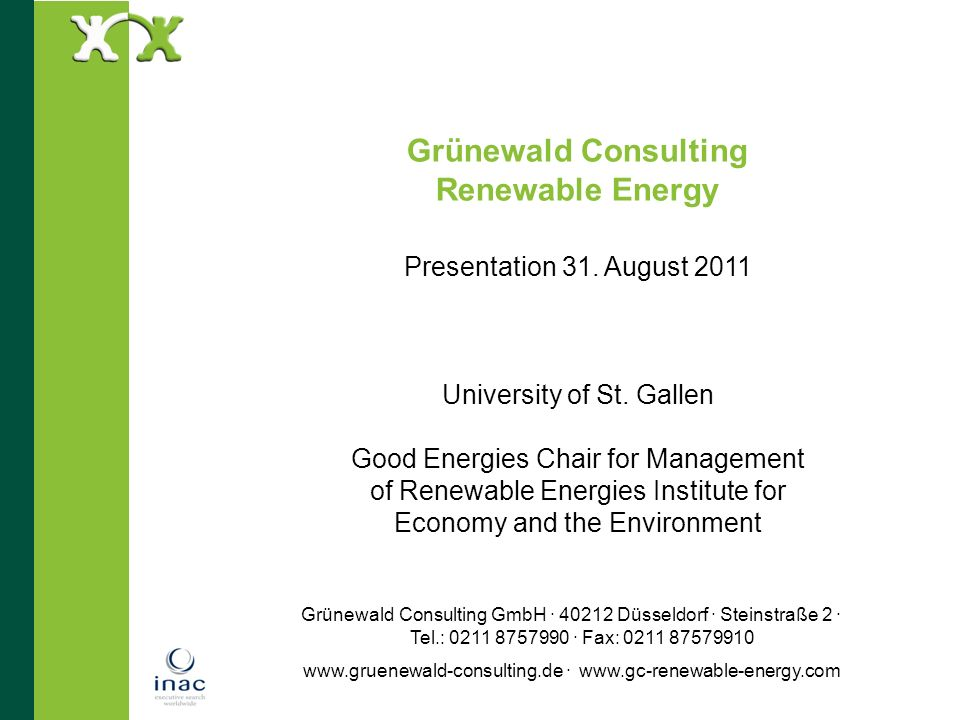 Grünewald Consulting Renewable Energy