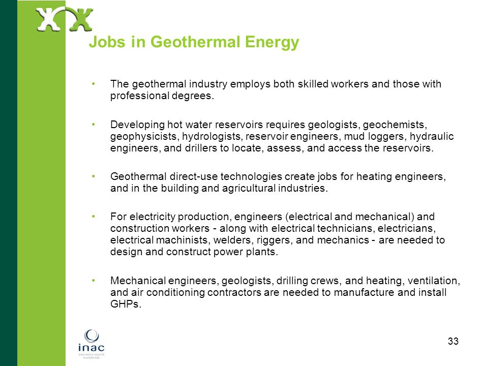Jobs in Geothermal Energy