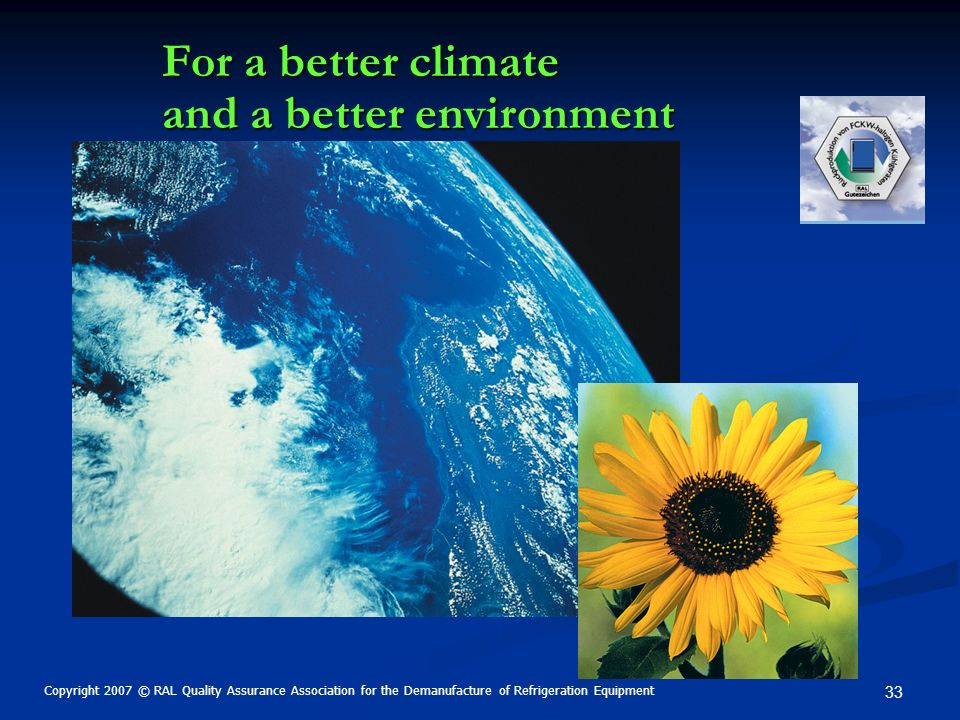 For a better climate and a better environment