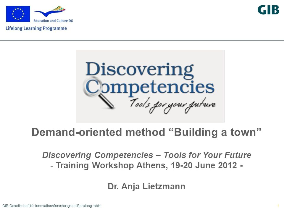 Demand-oriented method Building a town