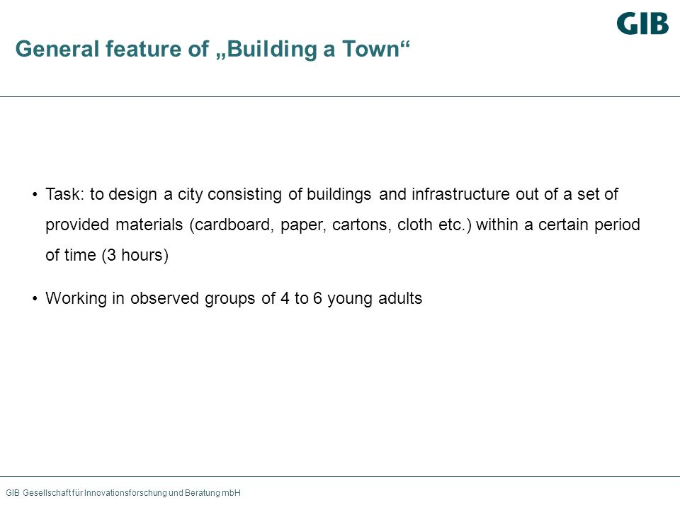 "General feature of ""Building a Town"