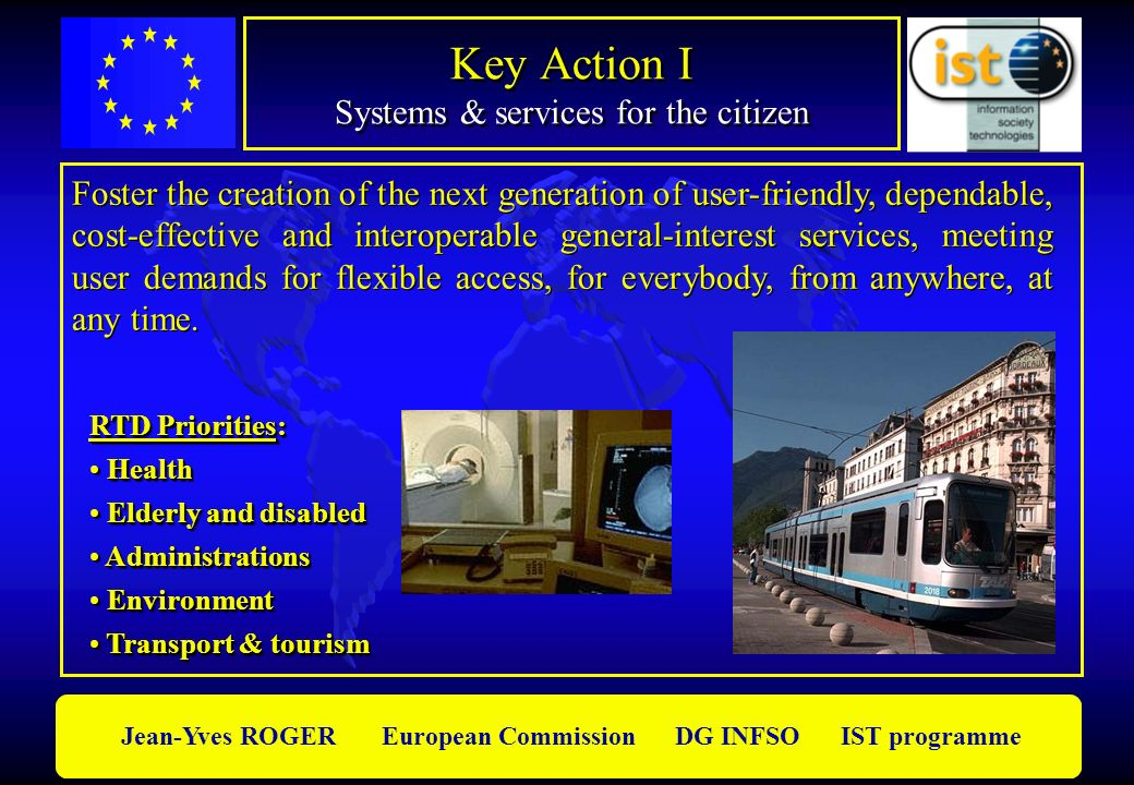 Key Action I Systems & services for the citizen