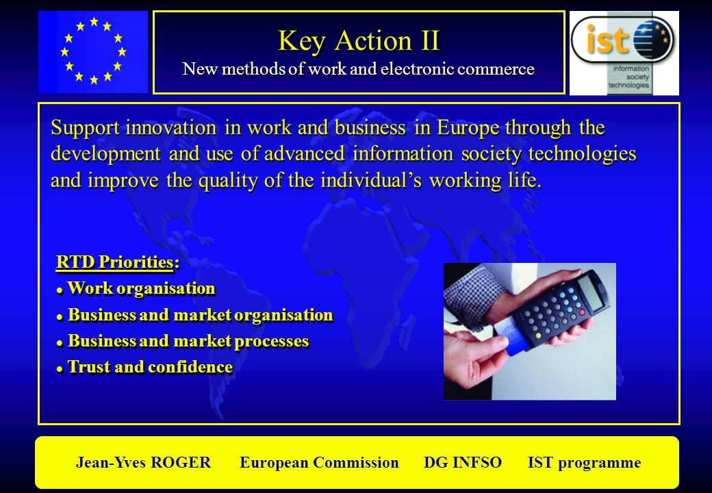 Key Action II New methods of work and electronic commerce