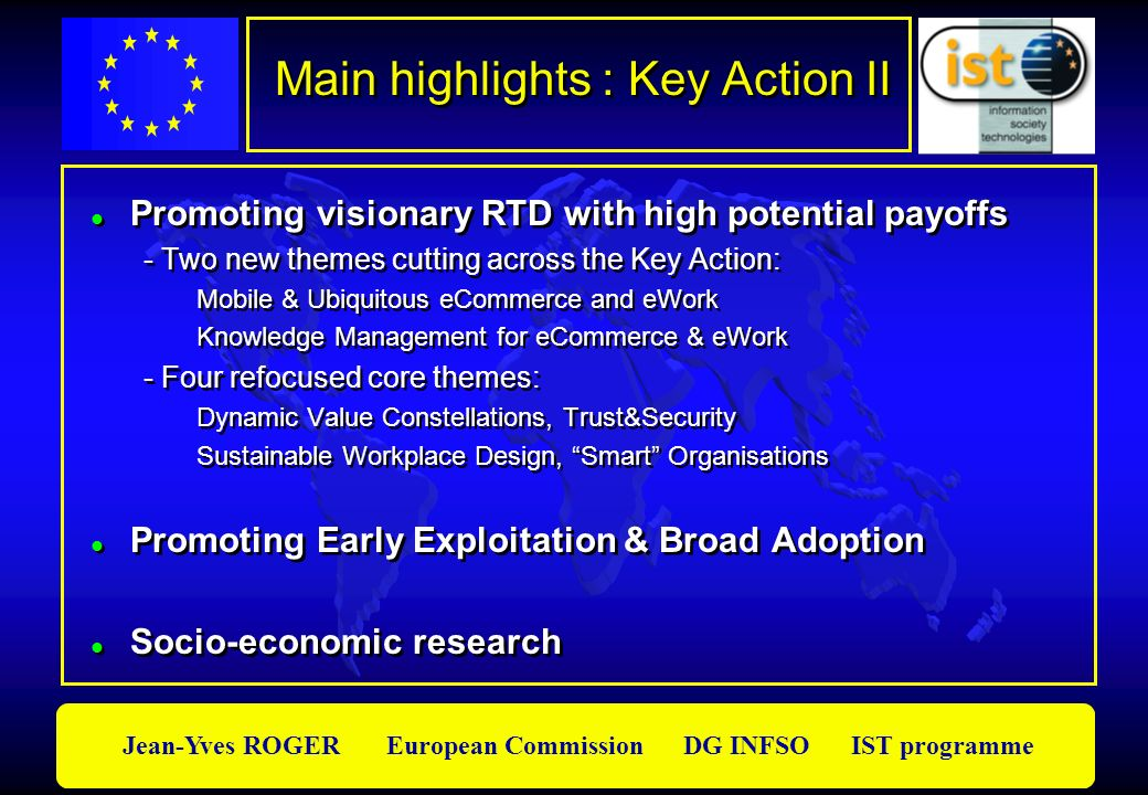 Main highlights : Key Action II