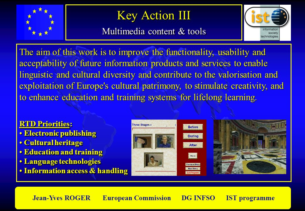 Key Action III Multimedia content & tools