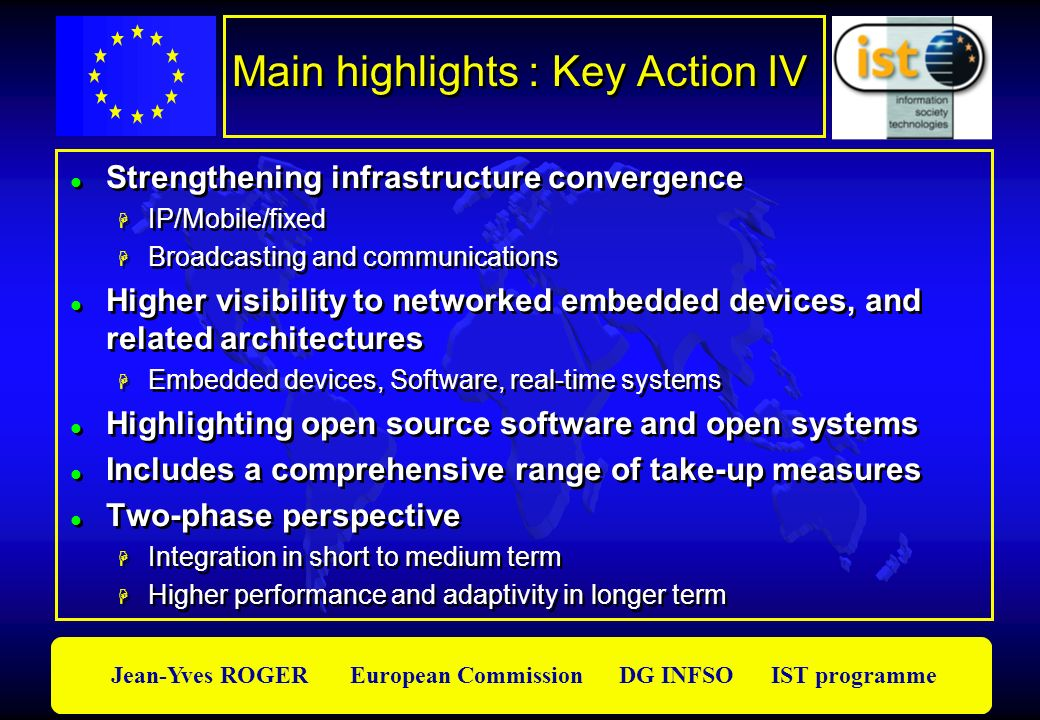 Main highlights : Key Action IV