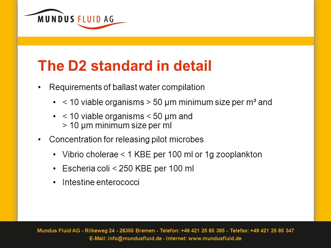 The D2 standard in detail