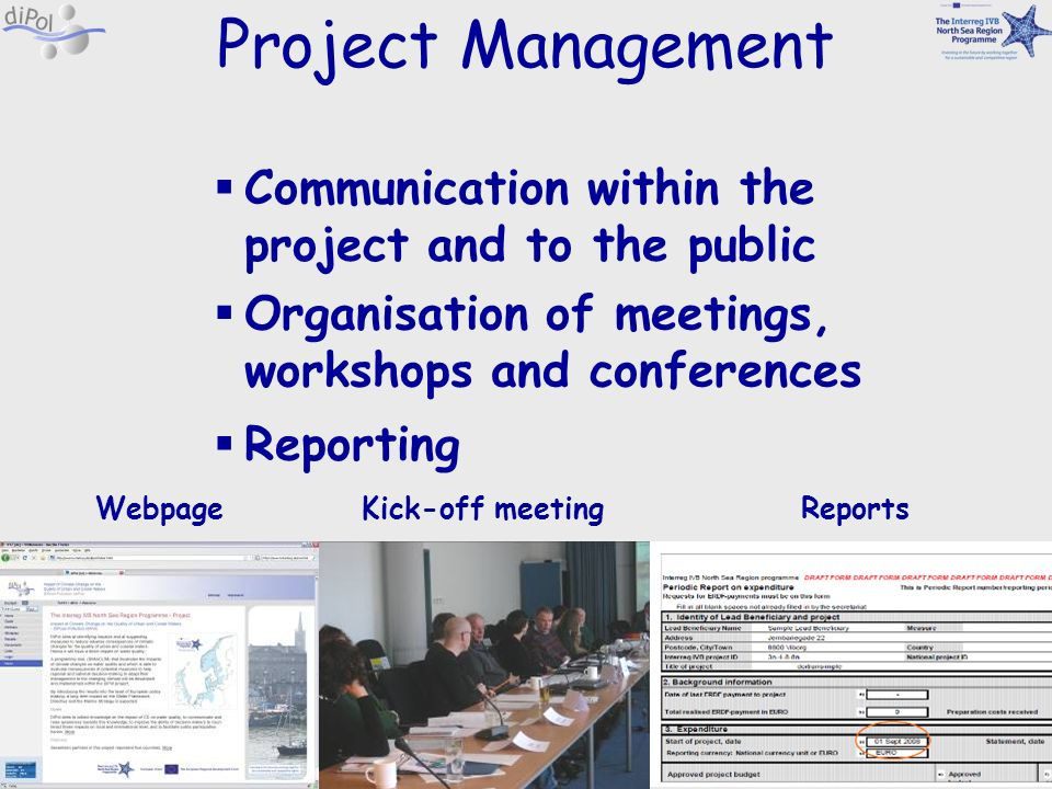 Project Management Communication within the project and to the public