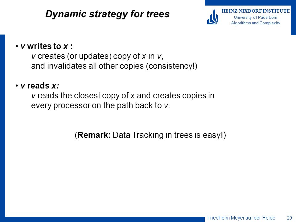 Dynamic strategy for trees