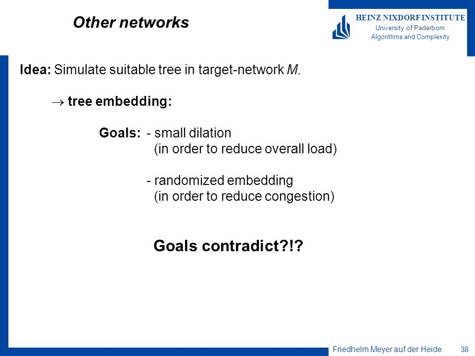 Other networks Goals contradict !