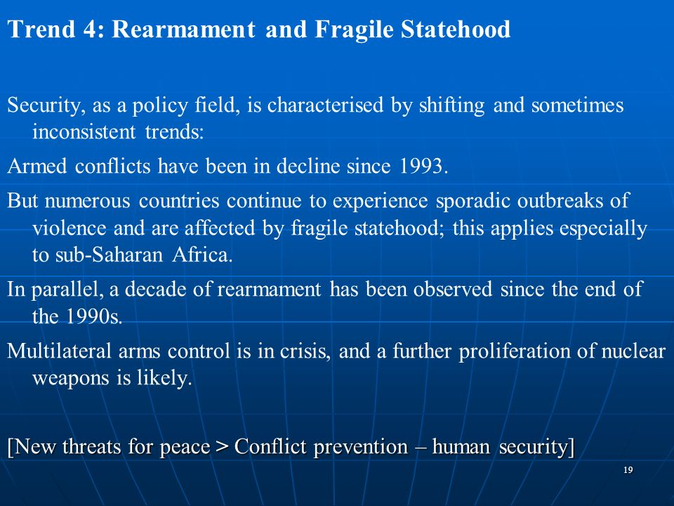 Trend 4: Rearmament and Fragile Statehood