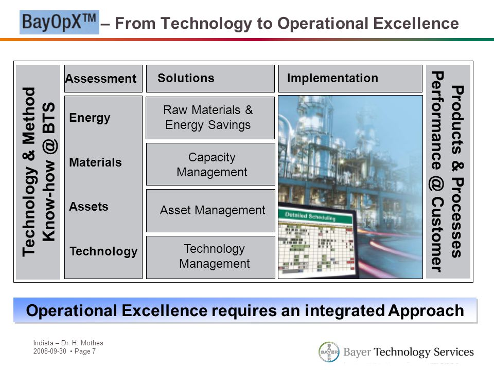 BayOpX – From Technology to Operational Excellence