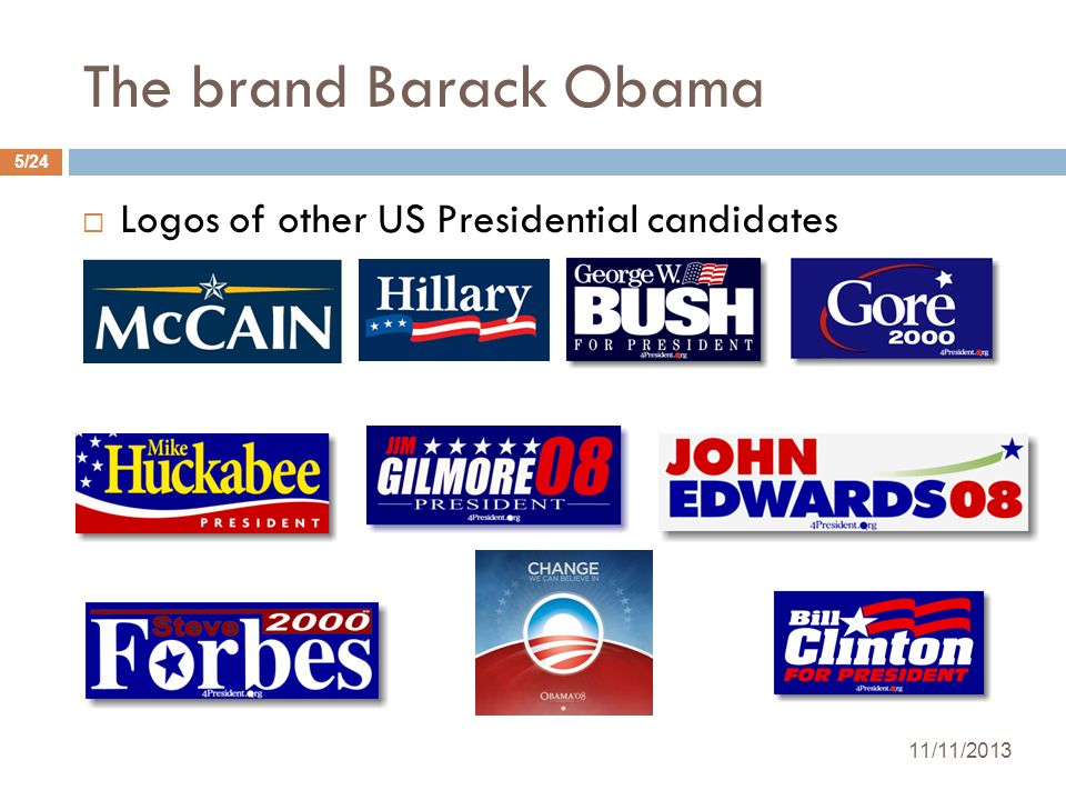 The brand Barack Obama Logos of other US Presidential candidates