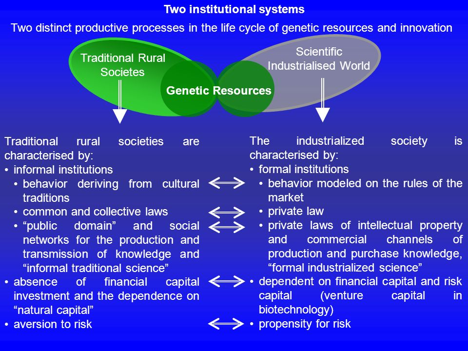 Two institutional systems