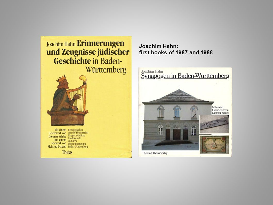 Joachim Hahn: first books of 1987 and 1988