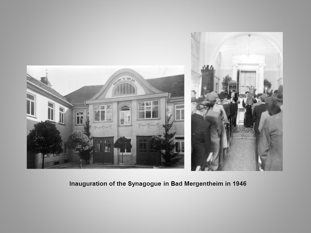 Inauguration of the Synagogue in Bad Mergentheim in 1946