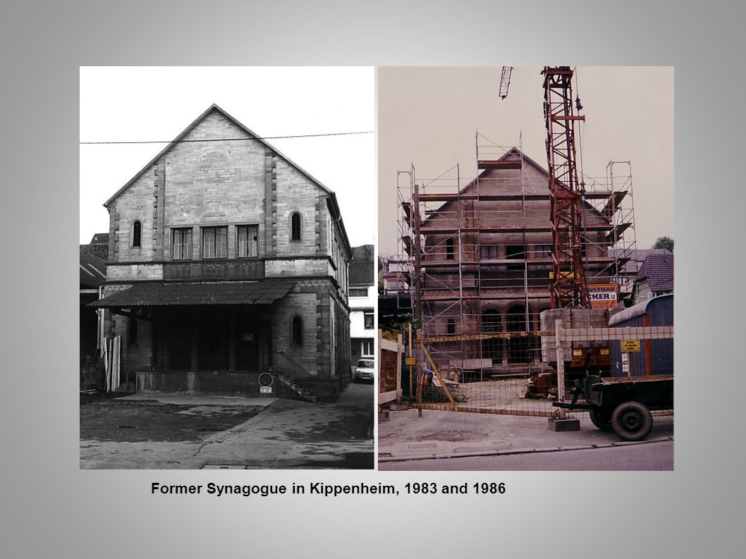 Former Synagogue in Kippenheim, 1983 and 1986