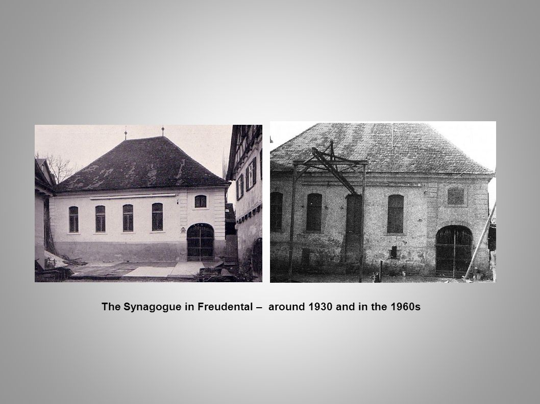 The Synagogue in Freudental – around 1930 and in the 1960s