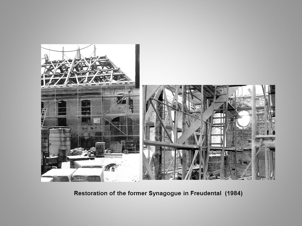 Restoration of the former Synagogue in Freudental (1984)