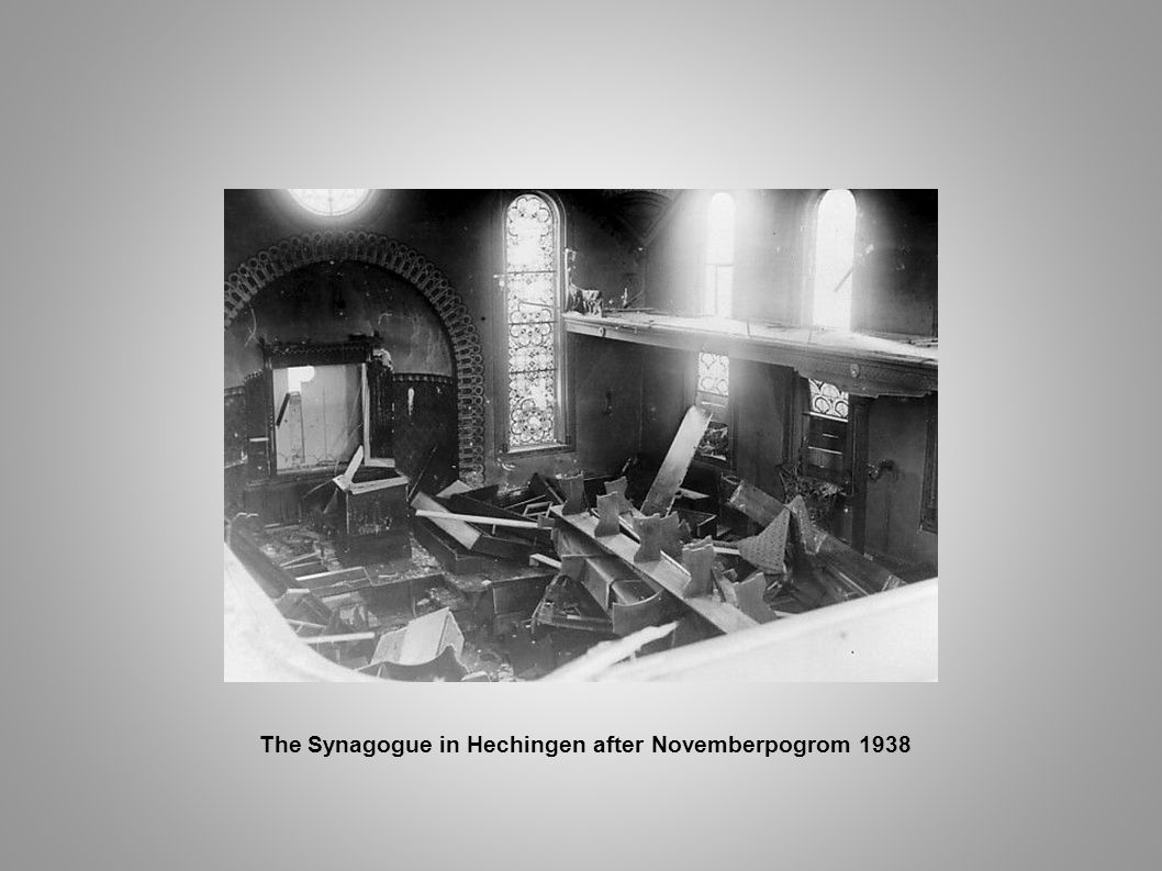 The Synagogue in Hechingen after Novemberpogrom 1938