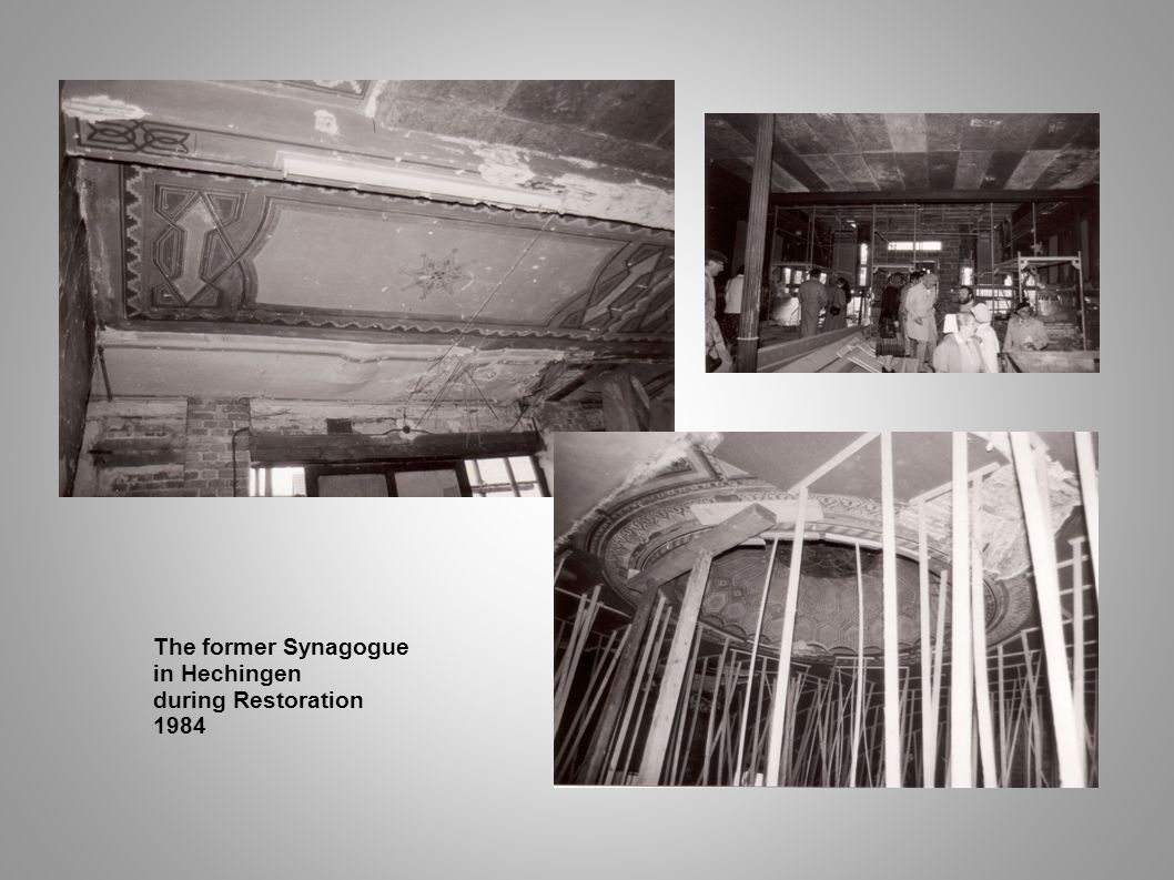 The former Synagogue in Hechingen during Restoration 1984