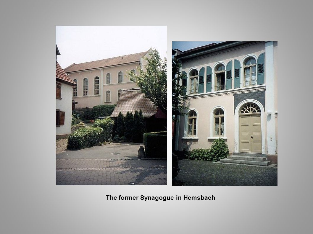 The former Synagogue in Hemsbach