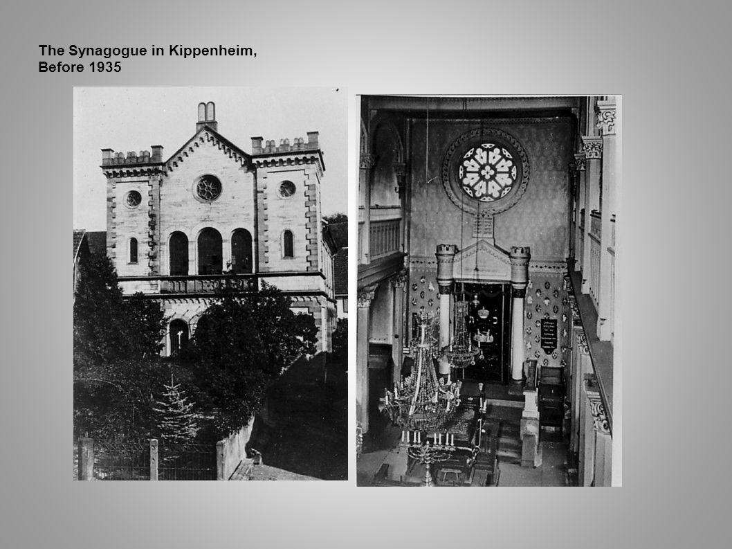 The Synagogue in Kippenheim, Before 1935