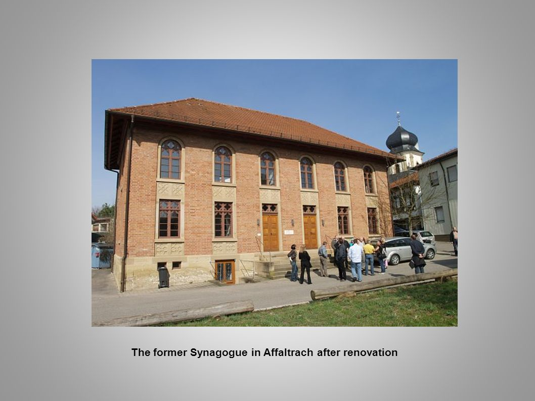 The former Synagogue in Affaltrach after renovation