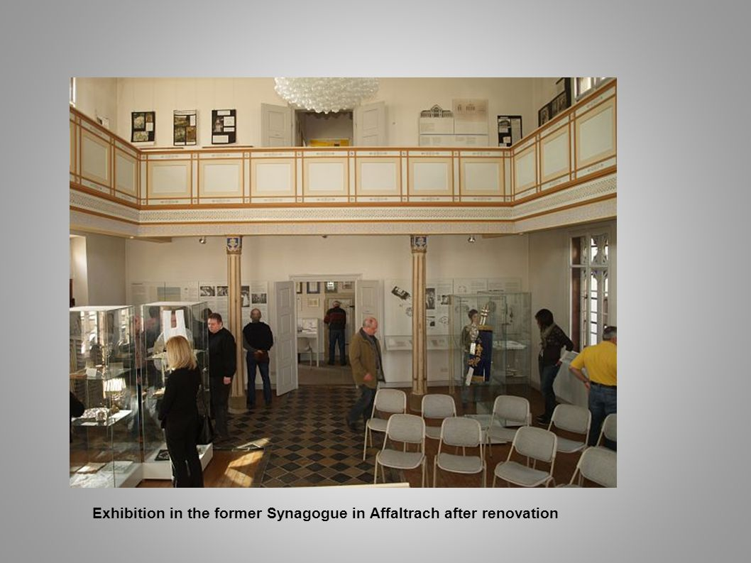 Exhibition in the former Synagogue in Affaltrach after renovation