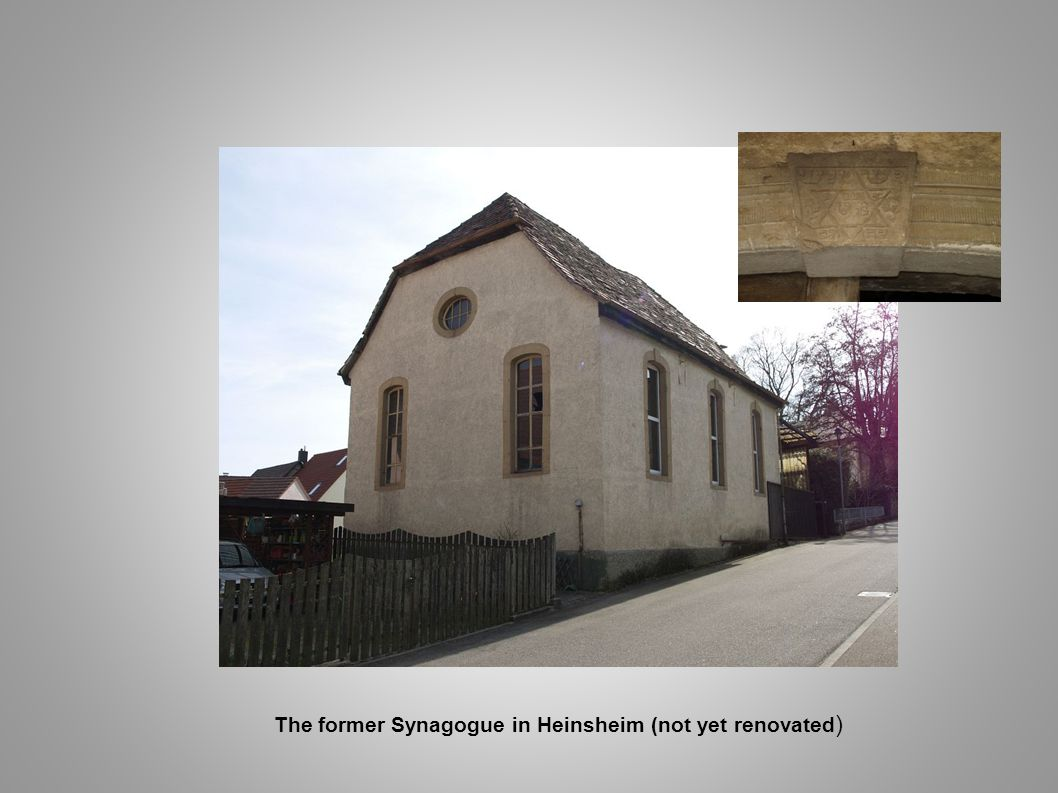 The former Synagogue in Heinsheim (not yet renovated)