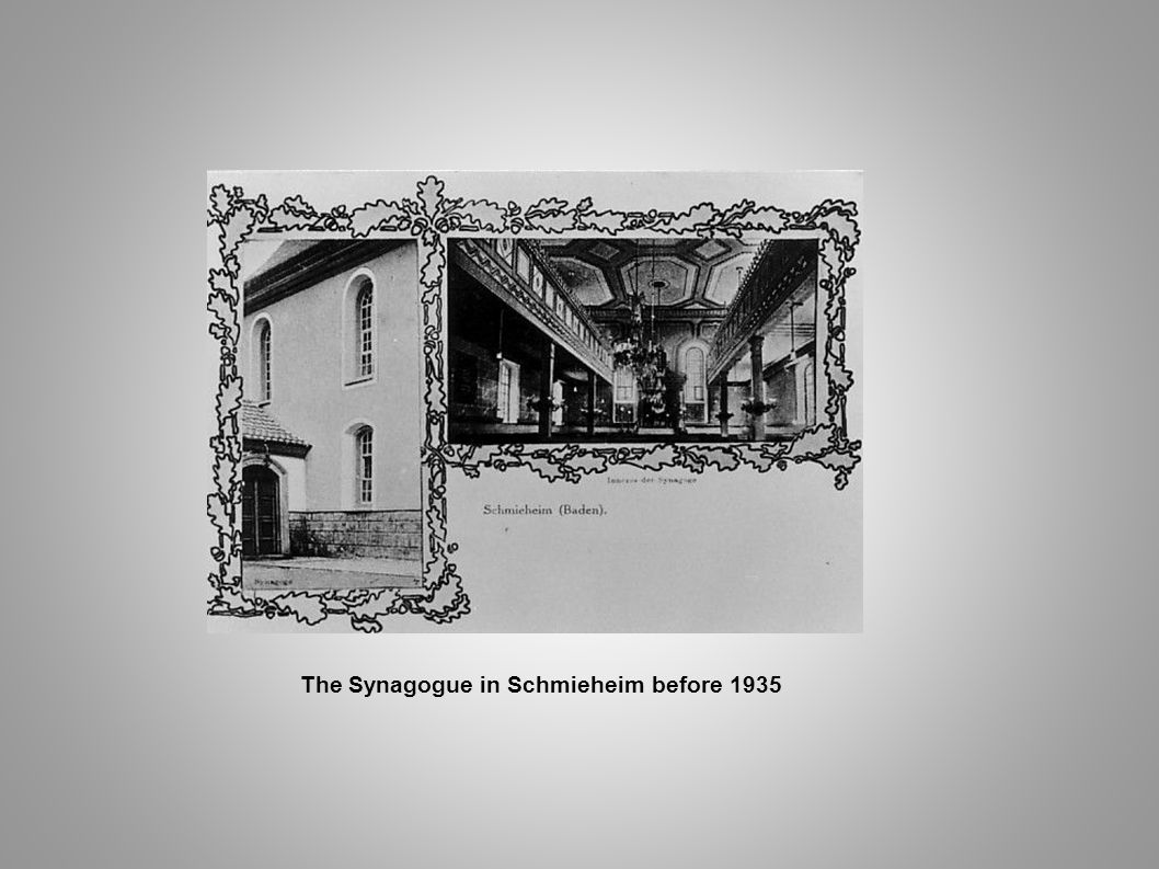 The Synagogue in Schmieheim before 1935