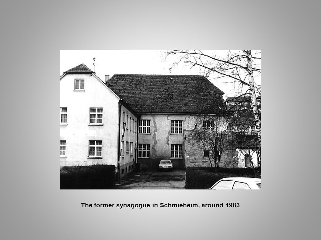 The former synagogue in Schmieheim, around 1983