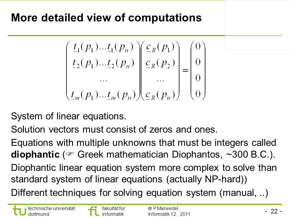 More detailed view of computations