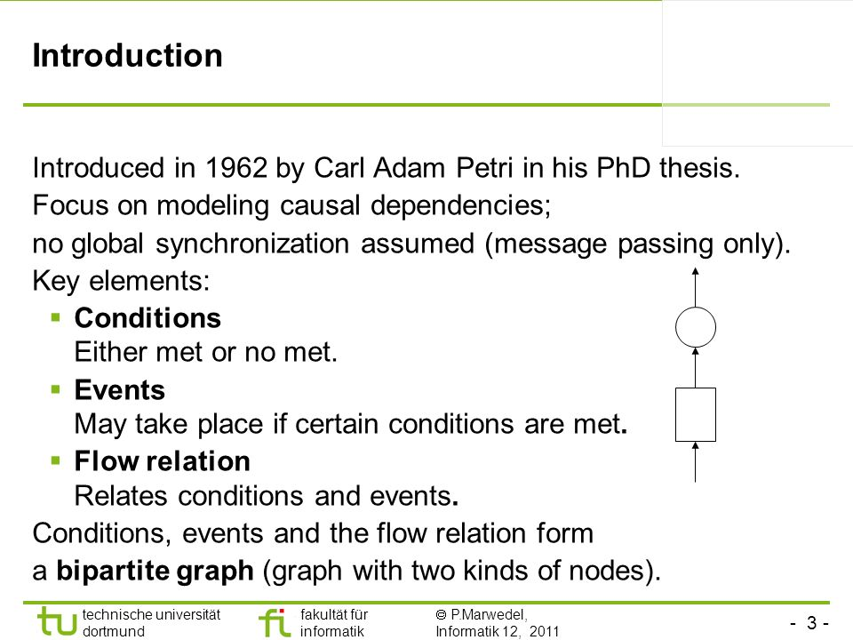 Introduction Introduced in 1962 by Carl Adam Petri in his PhD thesis.