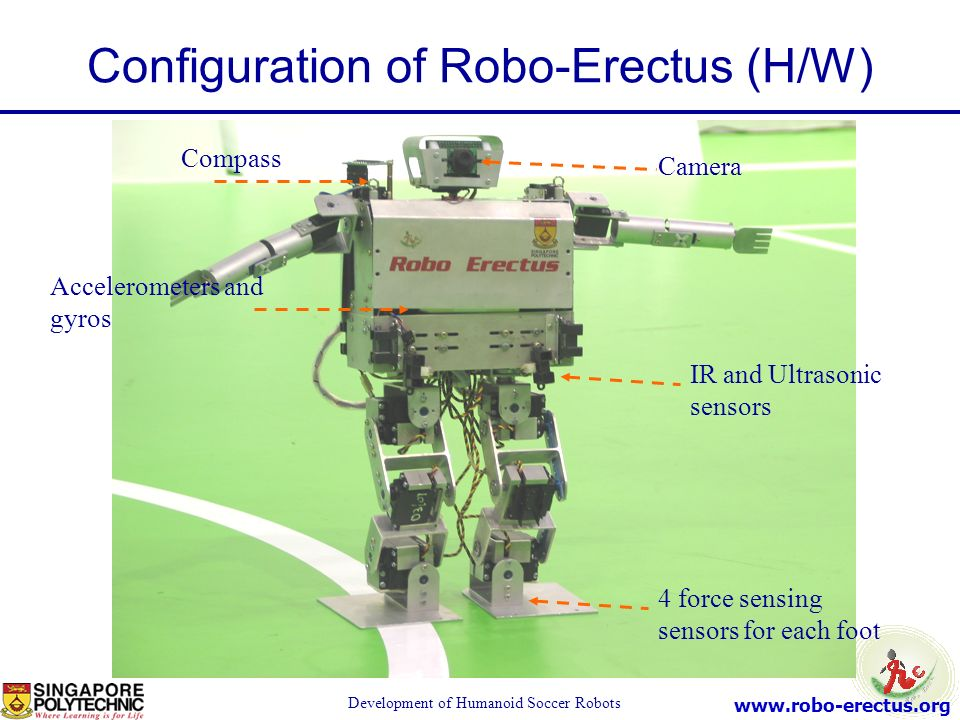 Configuration of Robo-Erectus (H/W)